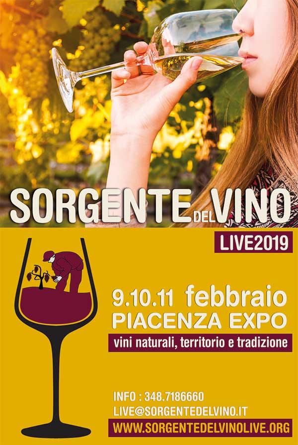 SORGENTE DEL VINO LIVE  – PiacenzaExpo 9.10.11 Febbraio 2019